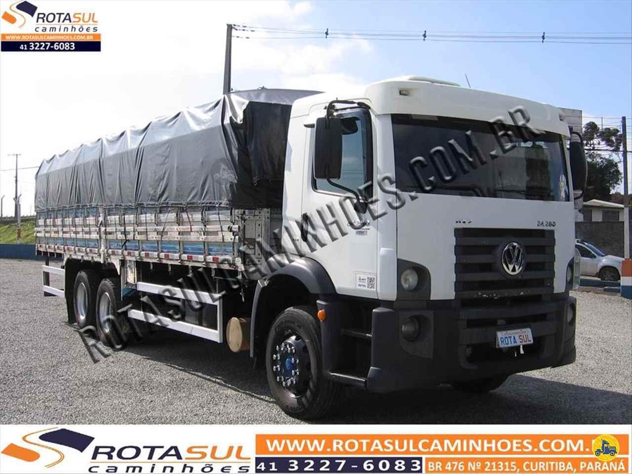 CAMINHAO VOLKSWAGEN VW 24280 Graneleiro Truck 6x2 Rota Sul Caminhões CURITIBA PARANÁ PR