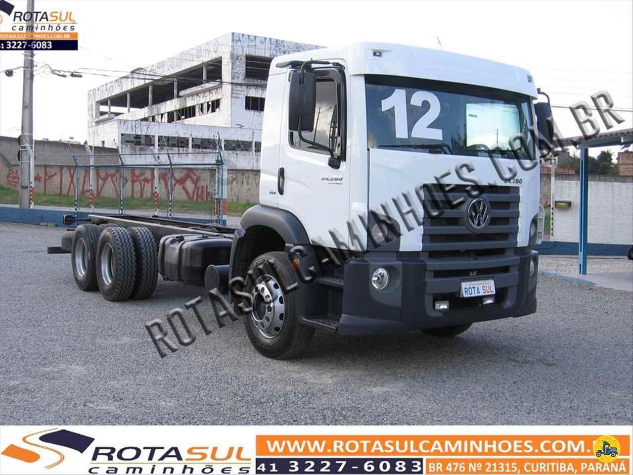 CAMINHAO VOLKSWAGEN VW 24280 Chassis Truck 6x2 Rota Sul Caminhões CURITIBA PARANÁ PR