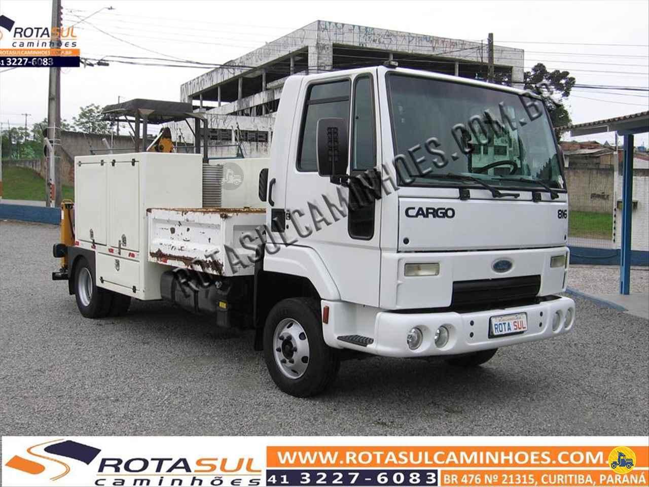 CAMINHAO FORD CARGO 816 Escavadeira Valetadeira 3/4 4x2 Rota Sul Caminhões CURITIBA PARANÁ PR