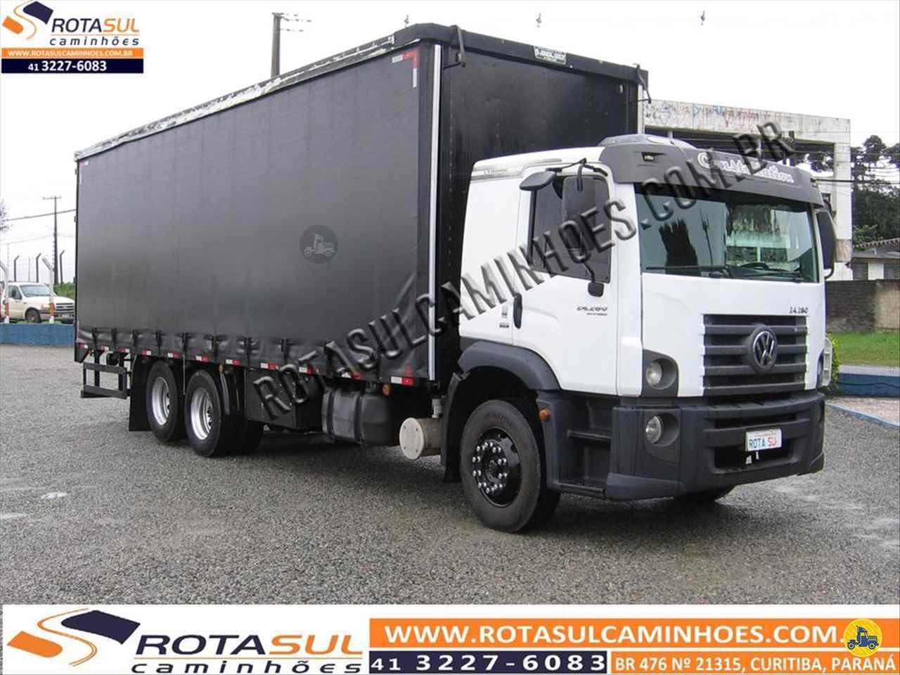 CAMINHAO VOLKSWAGEN VW 24280 Baú Sider Truck 6x2 Rota Sul Caminhões CURITIBA PARANÁ PR