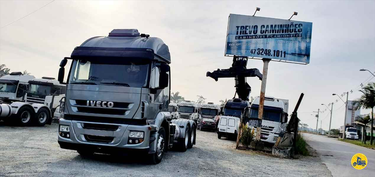 CAMINHAO IVECO STRALIS 410 Cavalo Mecânico Truck 6x2 Trevo Caminhões - AGB ITAJAI SANTA CATARINA SC
