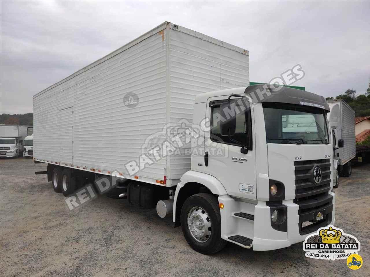 CAMINHAO VOLKSWAGEN VW 24280 Baú Furgão Truck 6x2 Rei da Batata Caminhões BLUMENAU SANTA CATARINA SC