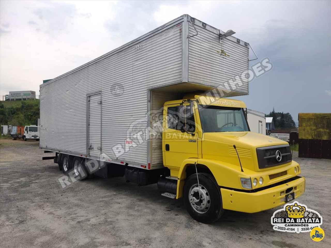 CAMINHAO MERCEDES-BENZ MB 1620 Baú Furgão Truck 6x2 Rei da Batata Caminhões BLUMENAU SANTA CATARINA SC