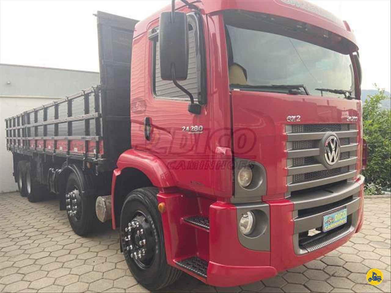 CAMINHAO VOLKSWAGEN VW 24280 Carga Seca BiTruck 8x2 Dico Caminhões RIO DO SUL SANTA CATARINA SC
