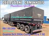 BITREM 9 EIXOS GRANELEIRO  2006/2006 Debastiani Caminhões