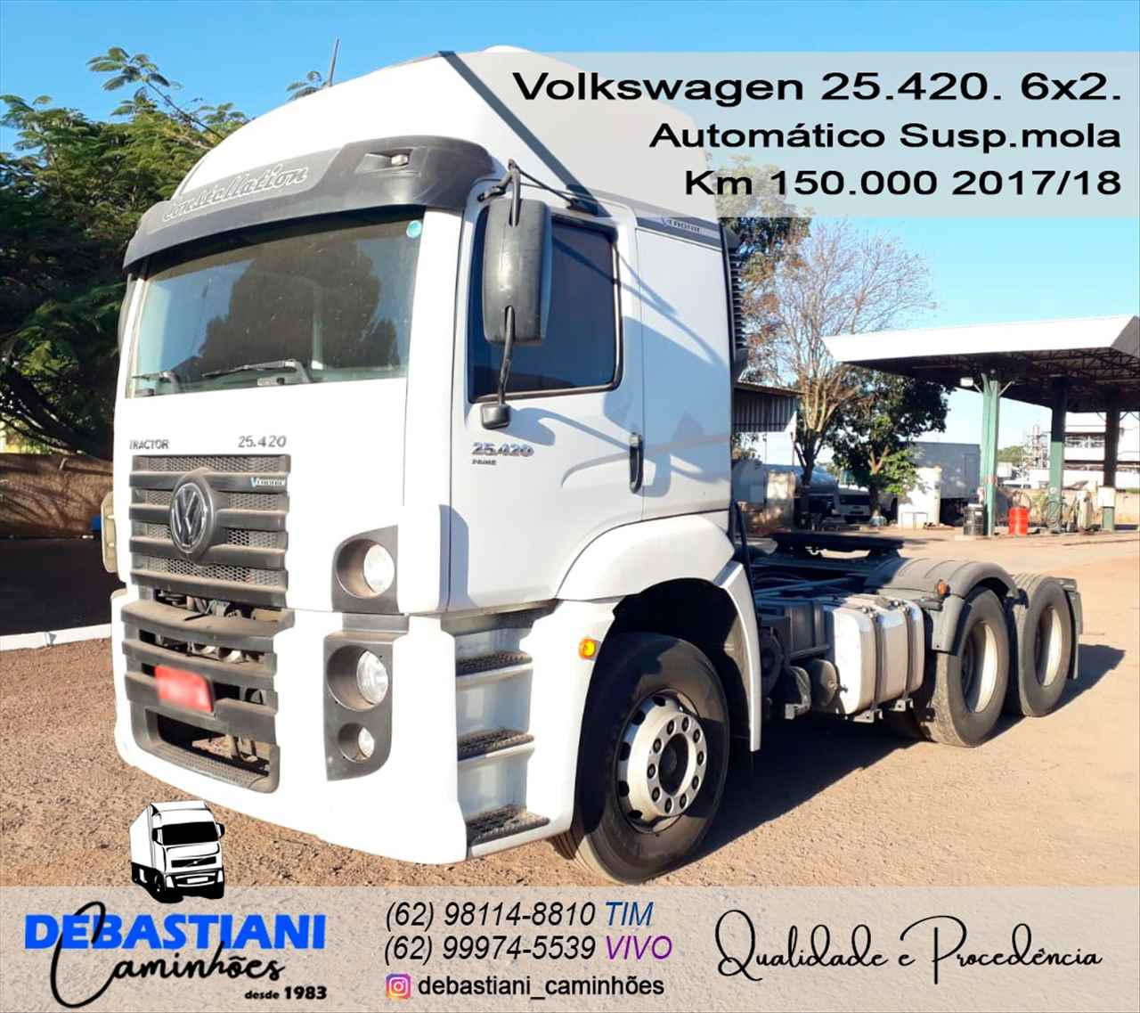CAMINHAO VOLKSWAGEN VW 25420 Cavalo Mecânico Truck 6x2 Debastiani Caminhões ANAPOLIS GOIAS GO