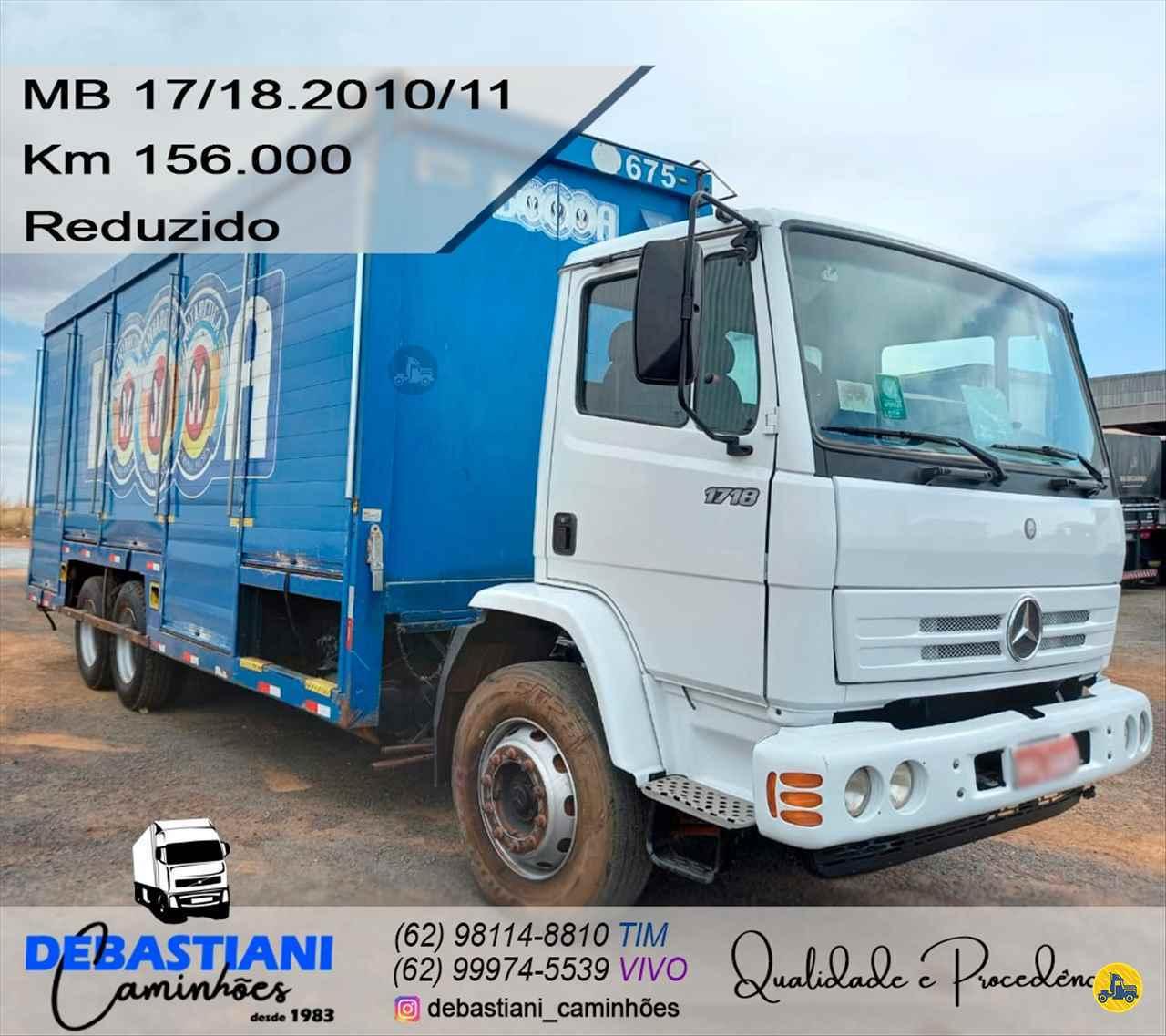 CAMINHAO MERCEDES-BENZ MB 1718 Baú Bebidas Truck 6x2 Debastiani Caminhões ANAPOLIS GOIAS GO