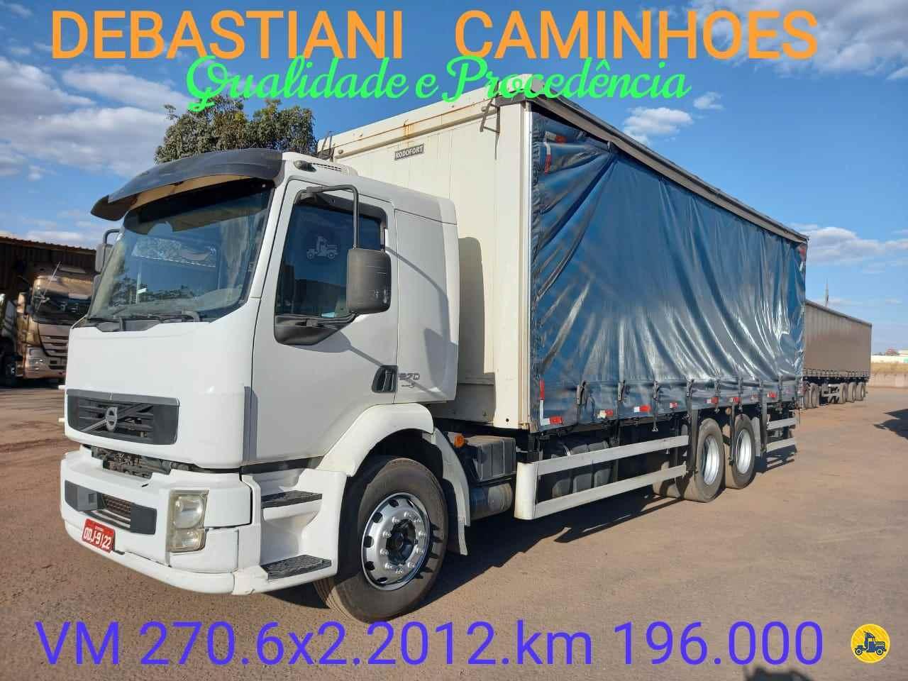 CAMINHAO VOLVO VOLVO VM 270 Baú Sider Truck 6x2 Debastiani Caminhões ANAPOLIS GOIAS GO