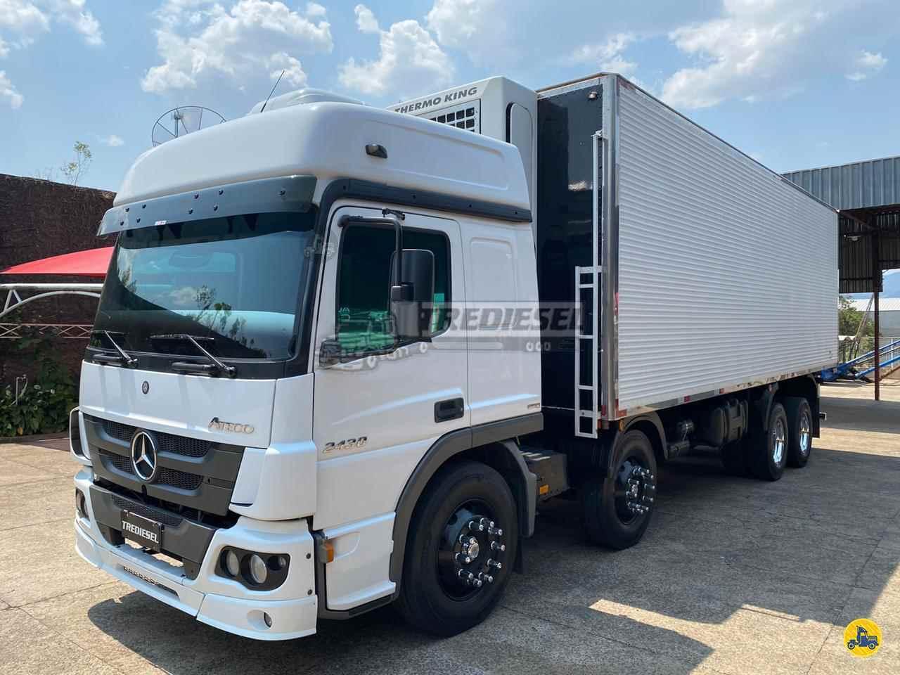 CAMINHAO MERCEDES-BENZ MB 2430 Baú Frigorífico BiTruck 8x2 Trediesel Caminhões ANDRADAS MINAS GERAIS MG