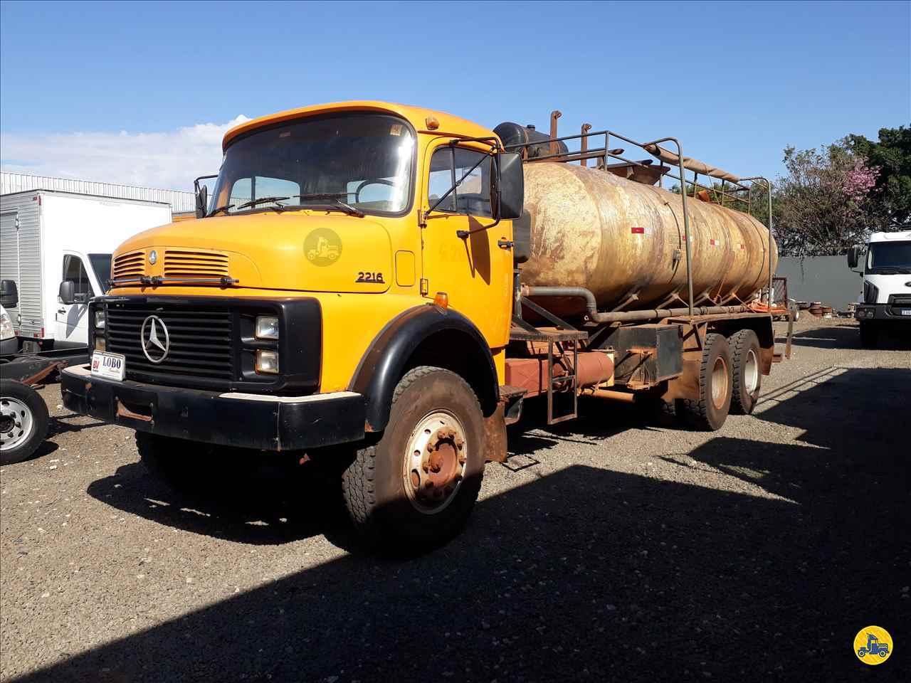 CAMINHAO MERCEDES-BENZ MB 2216 Tanque Pipa Traçado 6x4 Lobo Caminhões AMERICANA SÃO PAULO SP