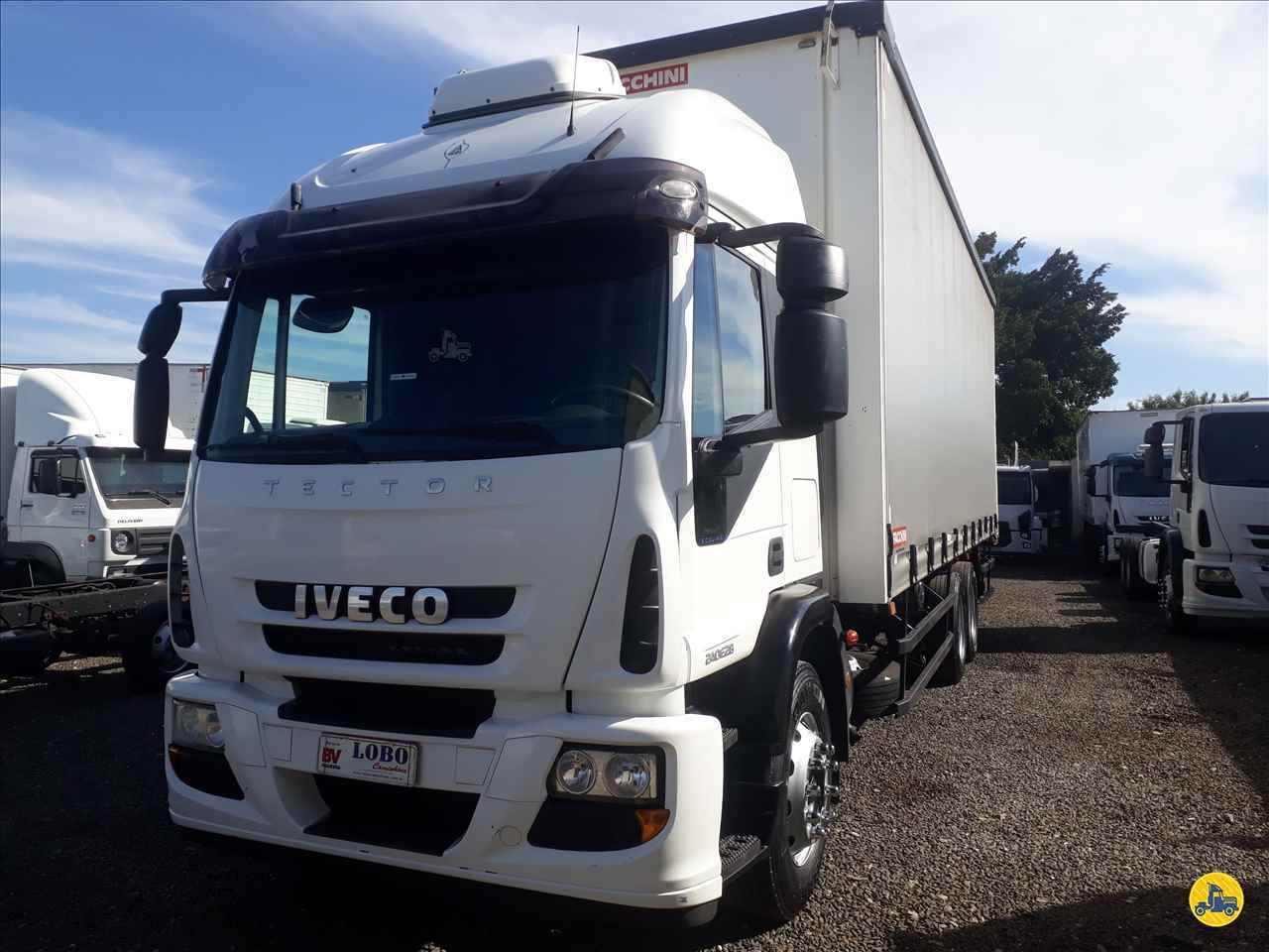 CAMINHAO IVECO TECTOR 240E28 Baú Sider Truck 6x2 Lobo Caminhões AMERICANA SÃO PAULO SP