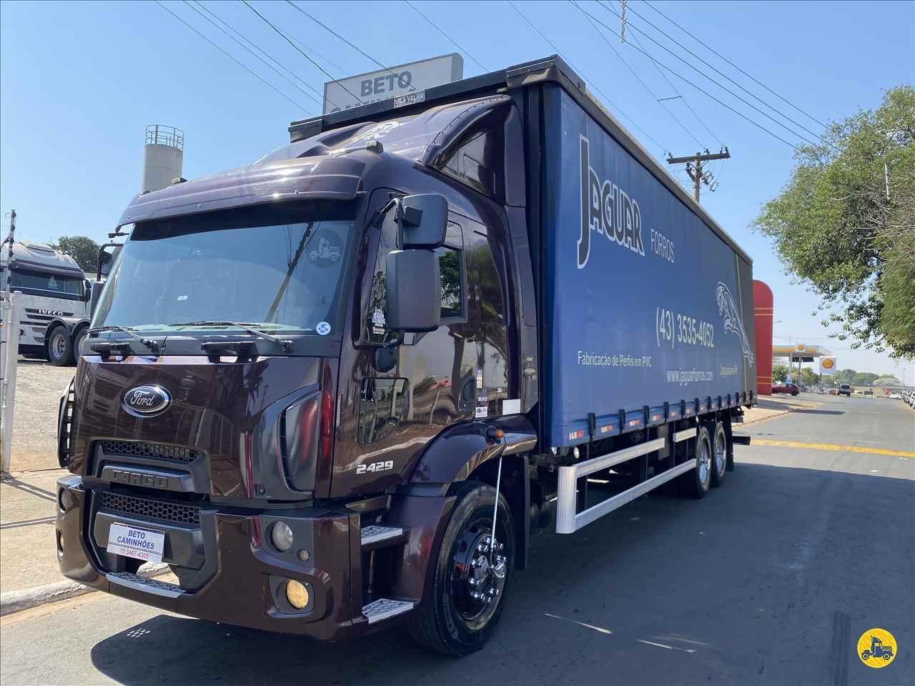 CAMINHAO FORD CARGO 2429 Baú Sider Truck 6x2 Beto Caminhões Piracicaba AMERICANA SÃO PAULO SP