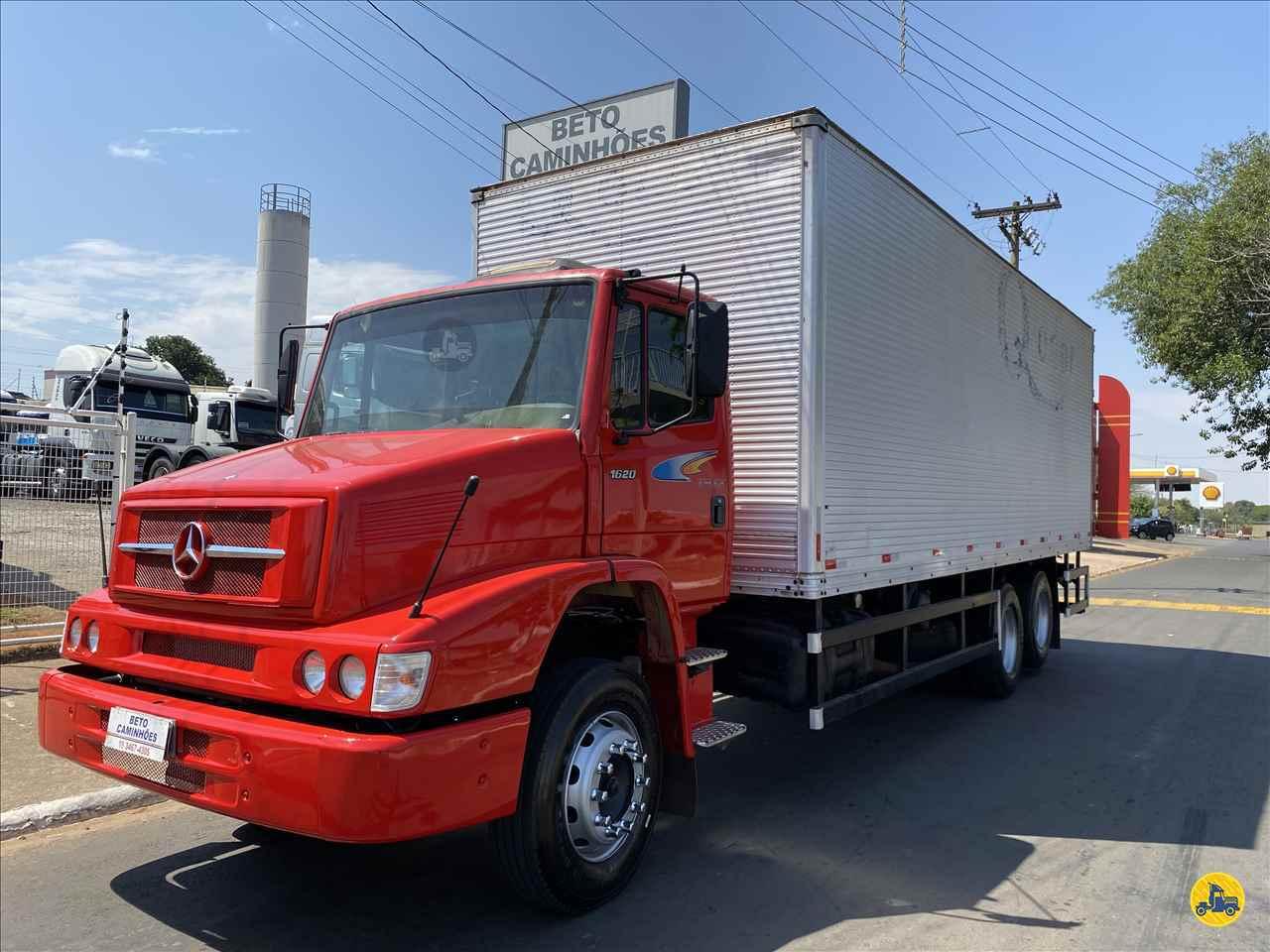 CAMINHAO MERCEDES-BENZ MB 1620 Baú Furgão Truck 6x2 Beto Caminhões Piracicaba AMERICANA SÃO PAULO SP
