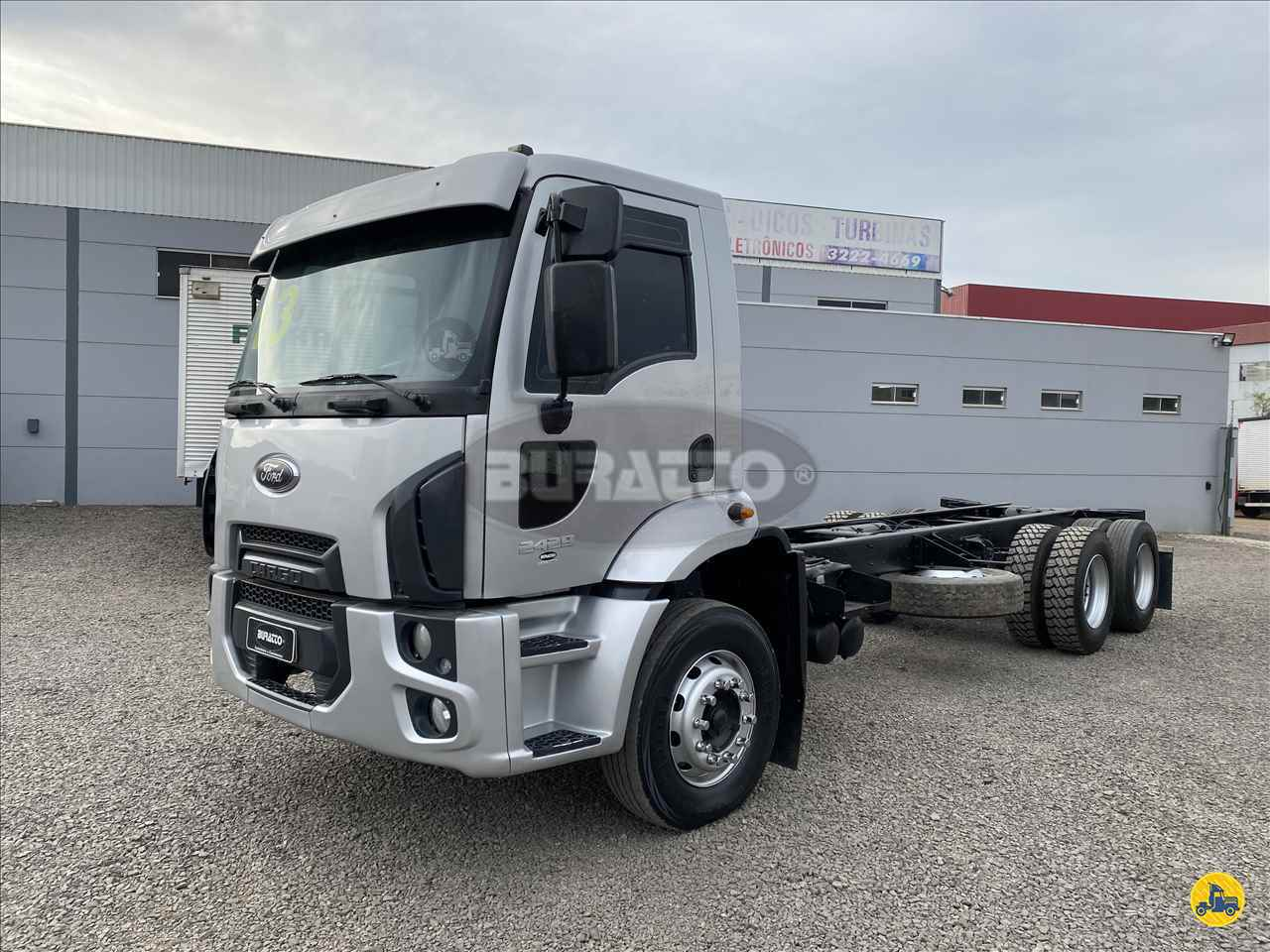 CAMINHAO FORD CARGO 2429 Roll ON OFF Truck 6x2 Buratto Caminhões LAGES SANTA CATARINA SC