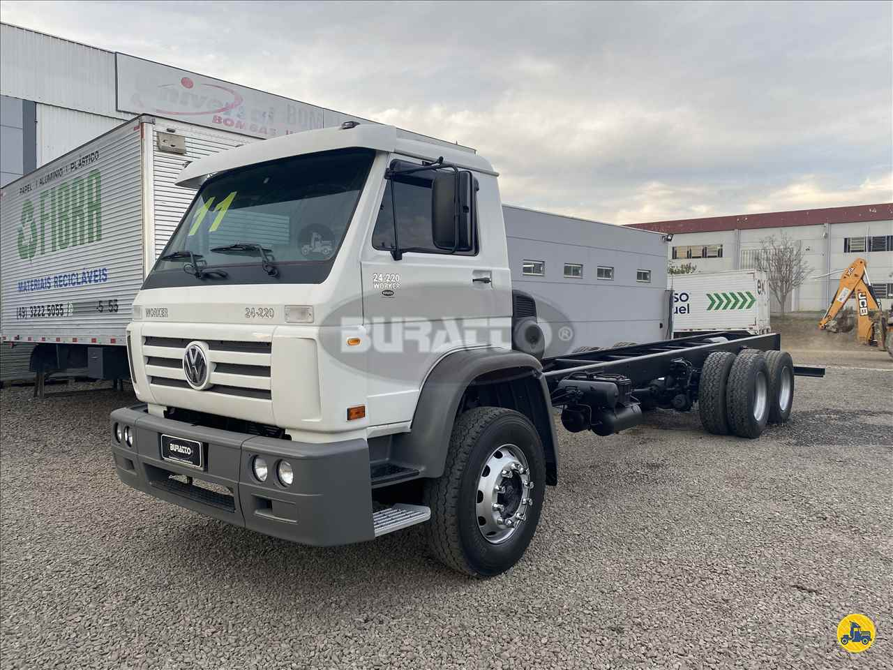 CAMINHAO VOLKSWAGEN VW 24220 Chassis Truck 6x2 Buratto Caminhões LAGES SANTA CATARINA SC
