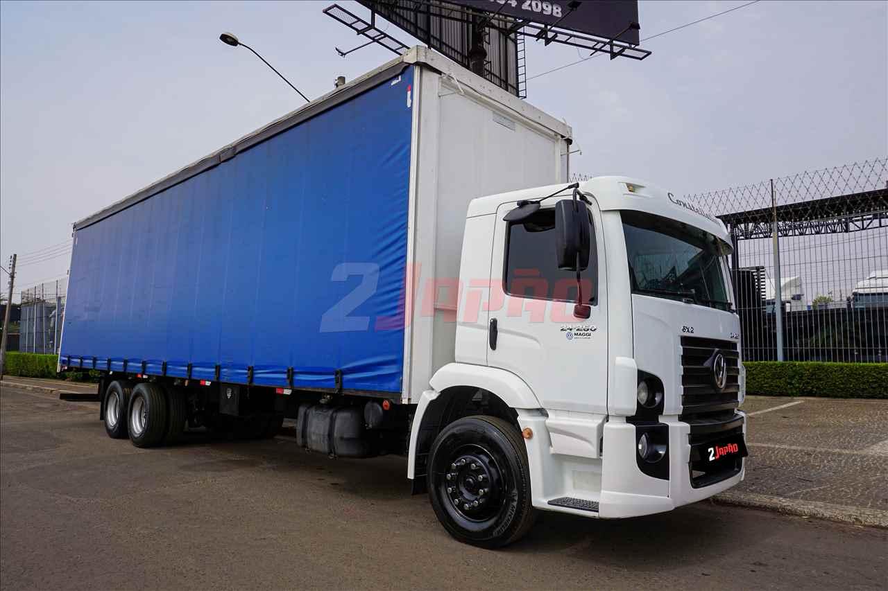 CAMINHAO VOLKSWAGEN VW 24250 Baú Sider Truck 6x2 2 Japão Caminhões e Carretas SUMARE SÃO PAULO SP