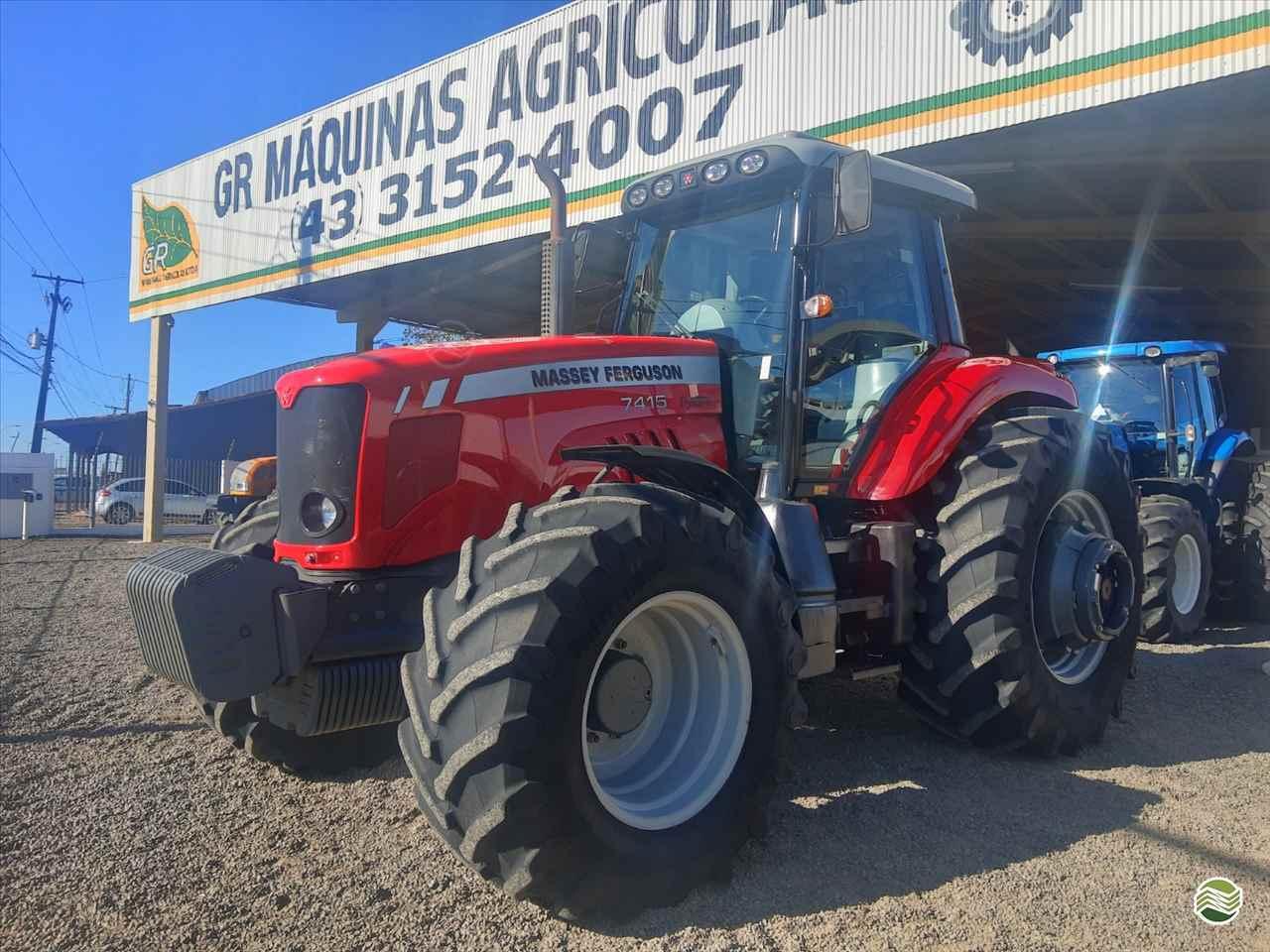 TRATOR MASSEY FERGUSON MF 7415 Tração 4x4 GR Máquinas Agrícolas ARAPONGAS PARANÁ PR