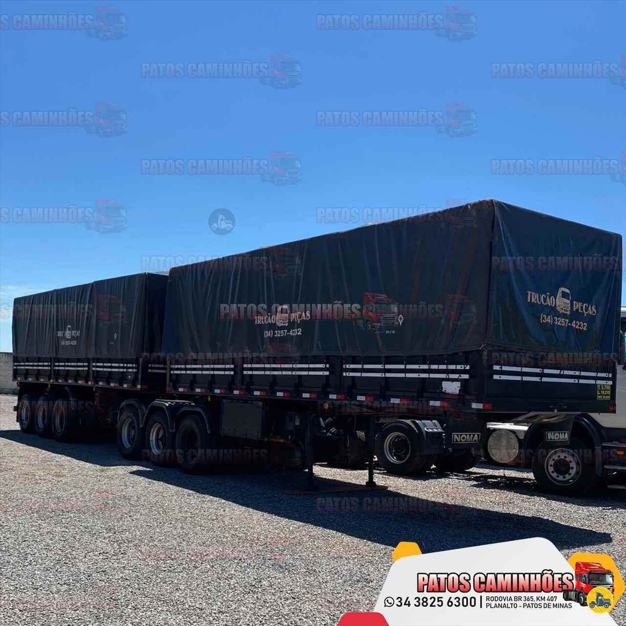 CARRETA BITREM 9 EIXOS GRANELEIRO Patos Caminhões PATOS DE MINAS MINAS GERAIS MG