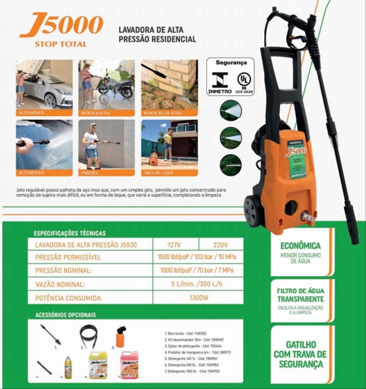 LAVADORA J 5000 127V/60.50HZ, MARCA JACTO