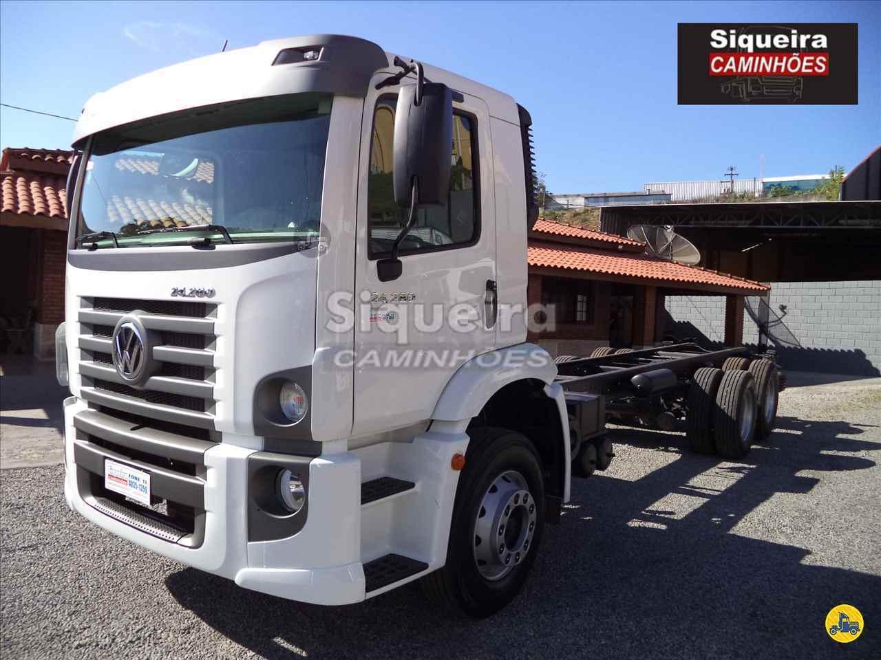 CAMINHAO VOLKSWAGEN VW 24280 Chassis Truck 6x2 Siqueira Caminhões BRAGANCA PAULISTA SÃO PAULO SP