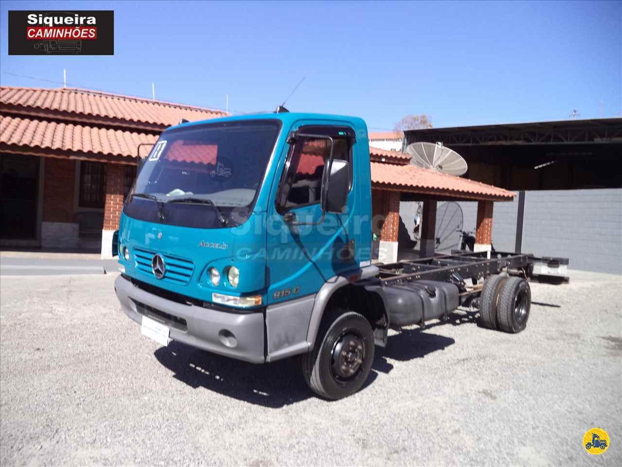 CAMINHAO MERCEDES-BENZ MB 915 Chassis 3/4 4x2 Siqueira Caminhões BRAGANCA PAULISTA SÃO PAULO SP