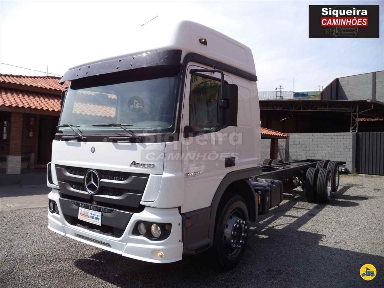 CAMINHAO MERCEDES-BENZ MB 2430 Chassis Truck 6x2 Siqueira Caminhões BRAGANCA PAULISTA SÃO PAULO SP