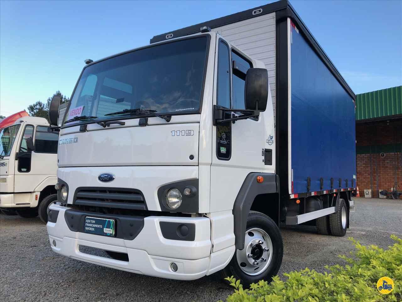 CAMINHAO FORD CARGO 1119 Baú Sider 3/4 4x2 Divisa Caminhões INDAIAL SANTA CATARINA SC