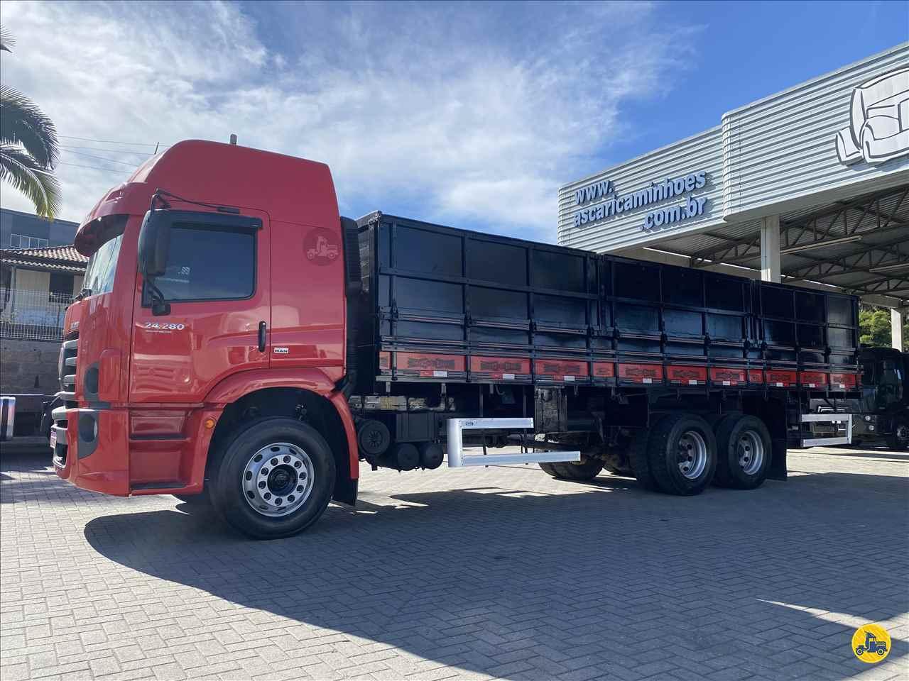 CAMINHAO VOLKSWAGEN VW 24280 Graneleiro Truck 6x2 Ascari Caminhões ORLEANS SANTA CATARINA SC