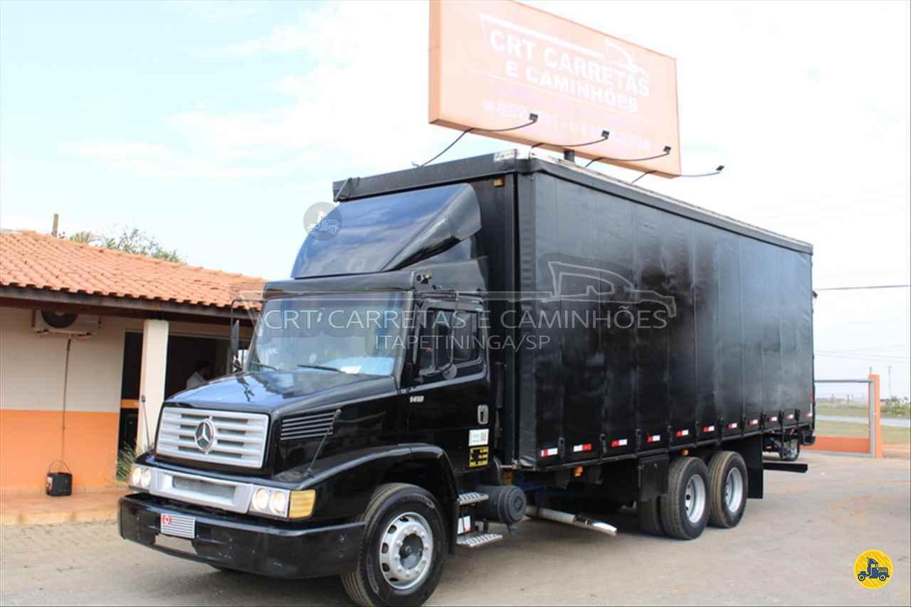 CAMINHAO MERCEDES-BENZ MB 1418 Baú Sider Truck 6x2 CRT Carretas ITAPETININGA SÃO PAULO SP