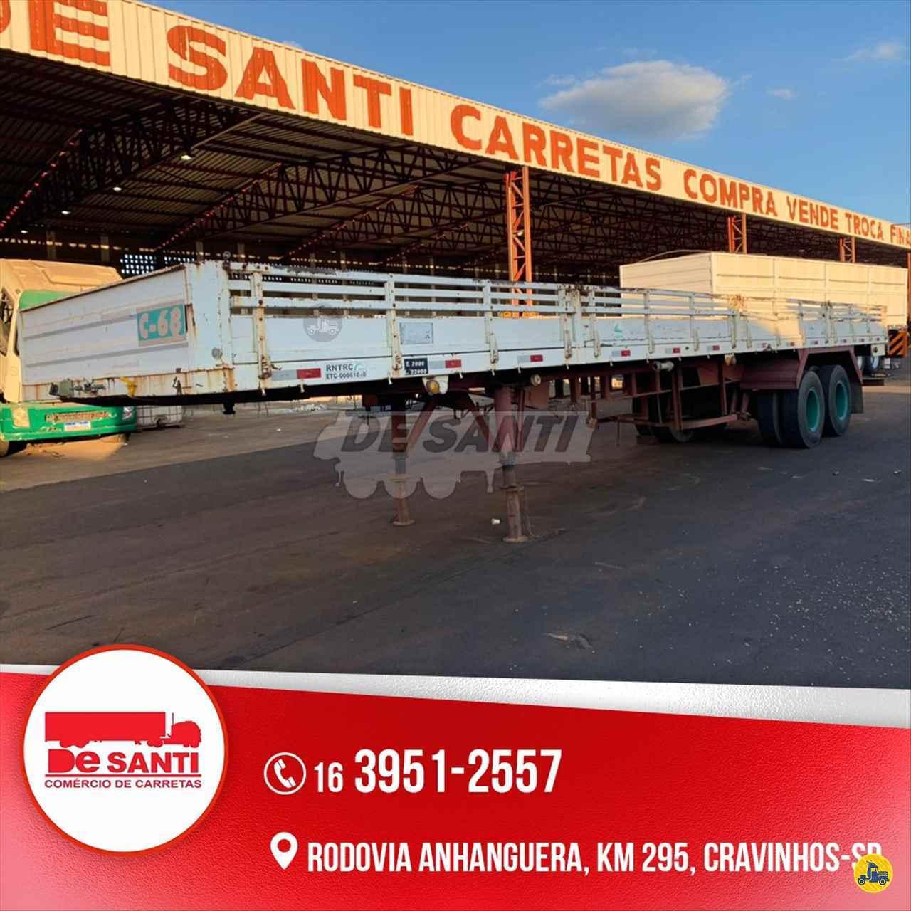 CARRETA SEMI-REBOQUE CARGA SECA De Santi Carretas CRAVINHOS SÃO PAULO SP