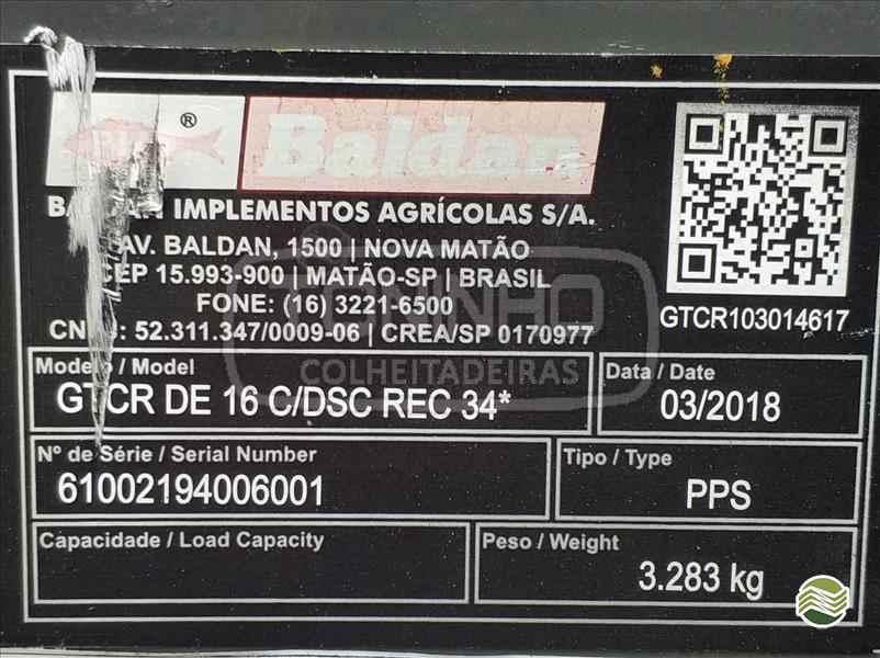 GRADE ARADORA ARADORA 16 DISCOS  2018 Toninho Colheitadeiras