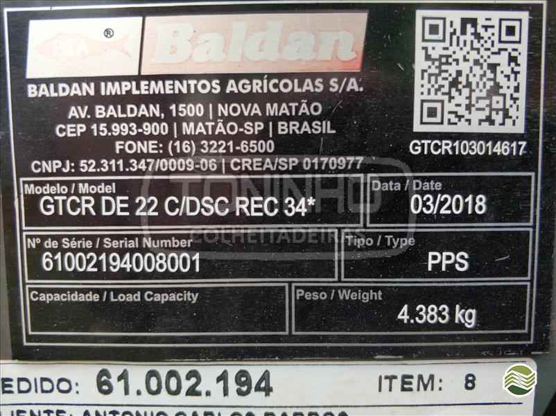 GRADE ARADORA ARADORA 22 DISCOS  2018 Toninho Colheitadeiras