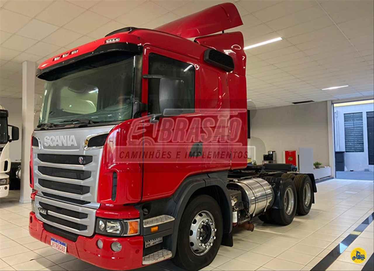 CAMINHAO SCANIA SCANIA 124 420 Cavalo Mecânico Truck 6x2 Brasão Caminhões e Veículos CAMBE PARANÁ PR