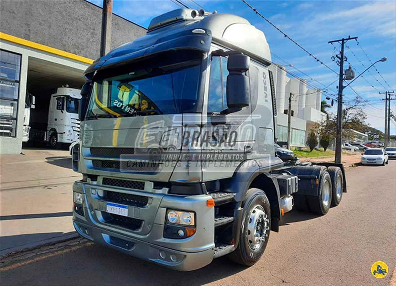CAMINHAO IVECO STRALIS 360 Baú Sider Truck 6x2 Brasão Caminhões e Veículos CAMBE PARANÁ PR