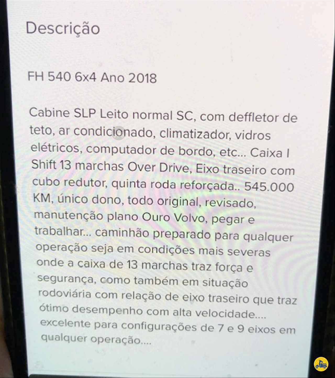 VOLVO VOLVO FH 540  2018/2018 Lotrans