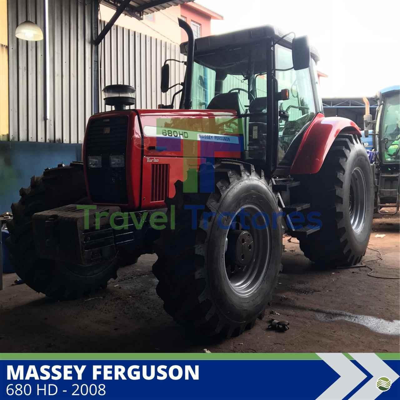 TRATOR MASSEY FERGUSON MF 680 Tração 4x4 Travel Máquinas Agrícolas LONDRINA PARANÁ PR