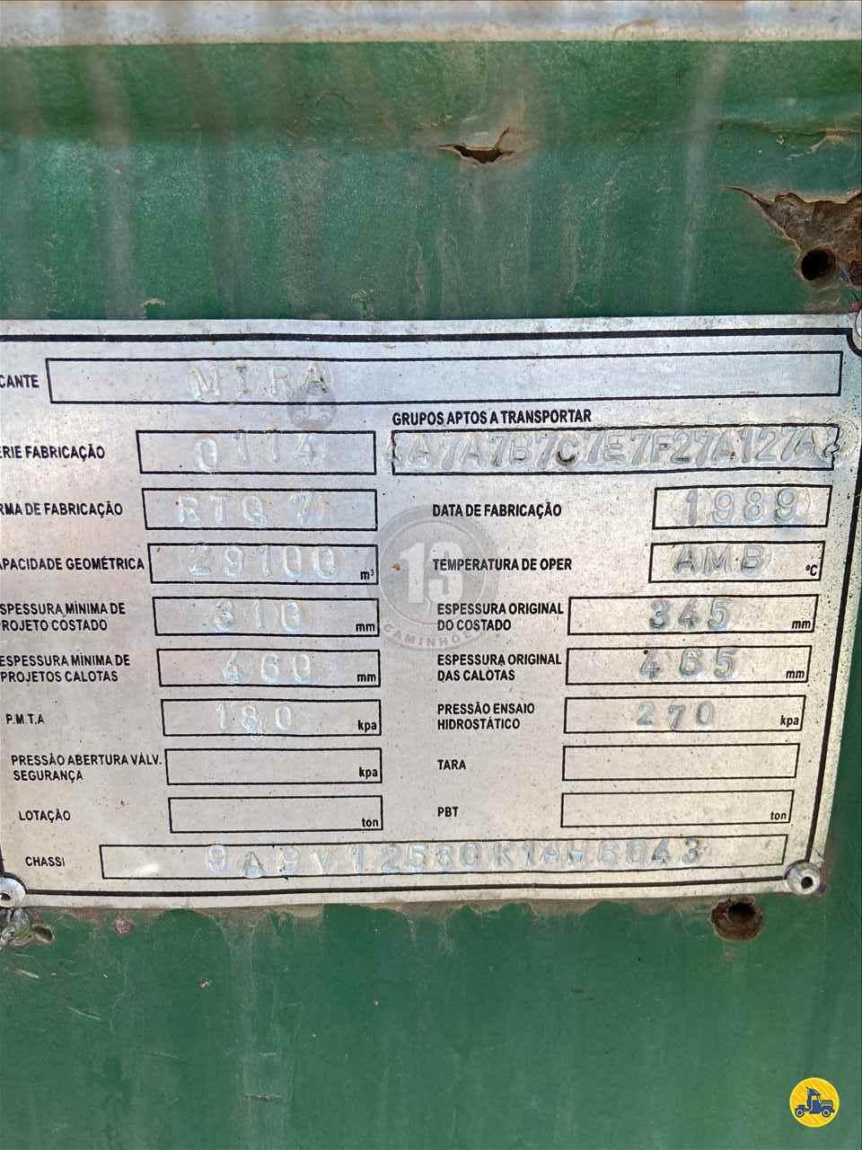 SEMI-REBOQUE TANQUE INOX  1989/1989 13 Caminhões