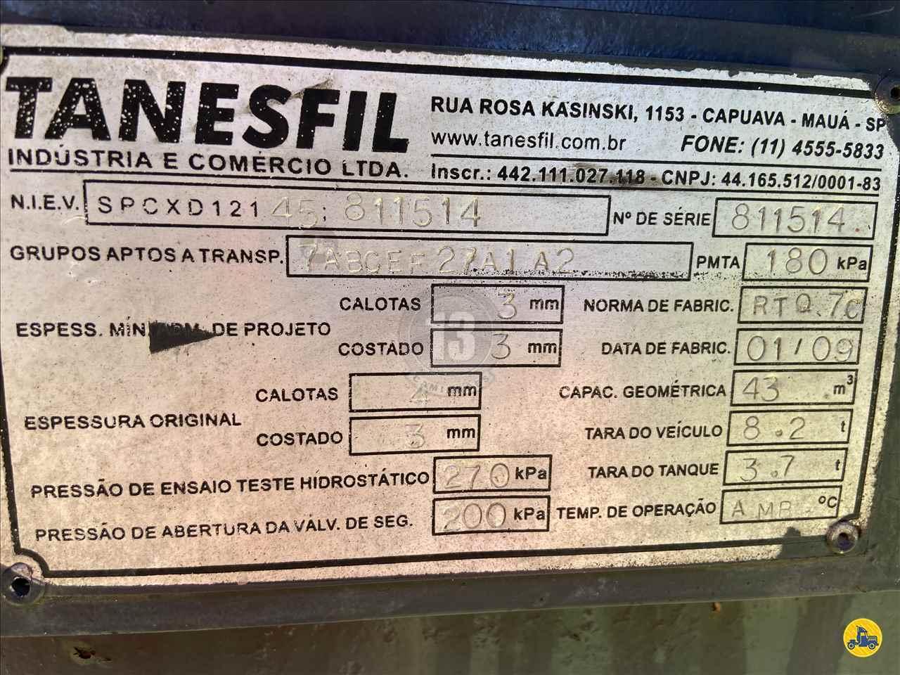 SEMI-REBOQUE TANQUE INOX  2008/2009 13 Caminhões