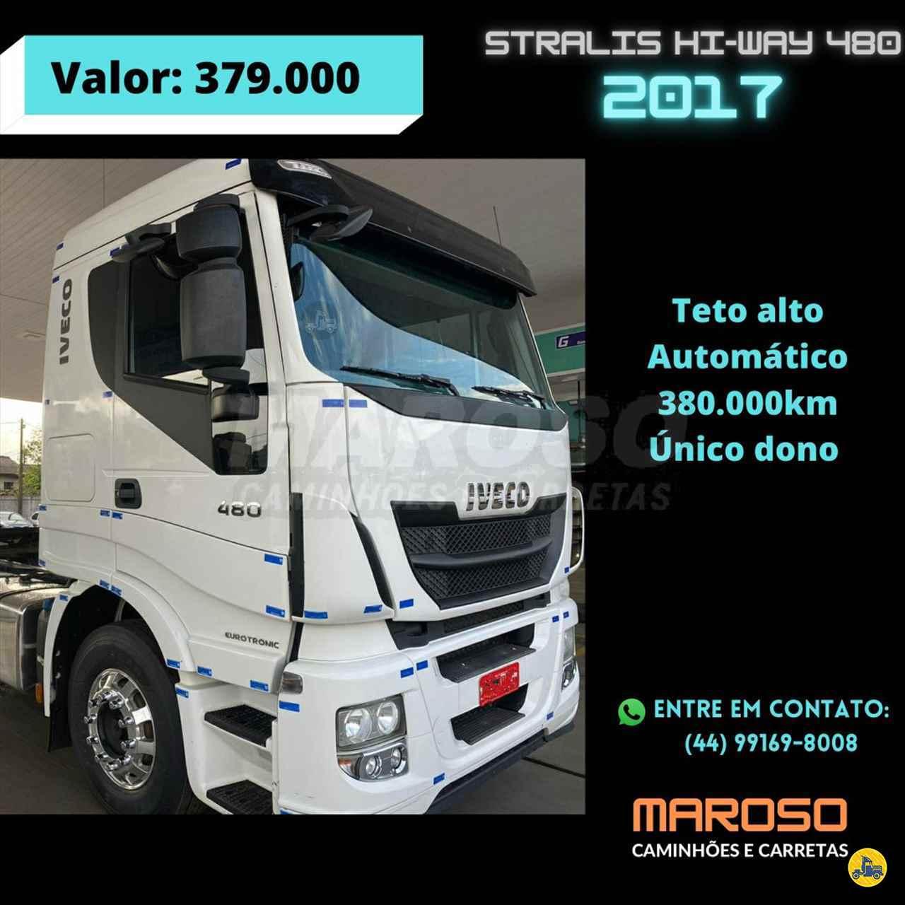 CAMINHAO IVECO STRALIS 480 Chassis Truck 6x2 Maroso Caminhões PALOTINA PARANÁ PR