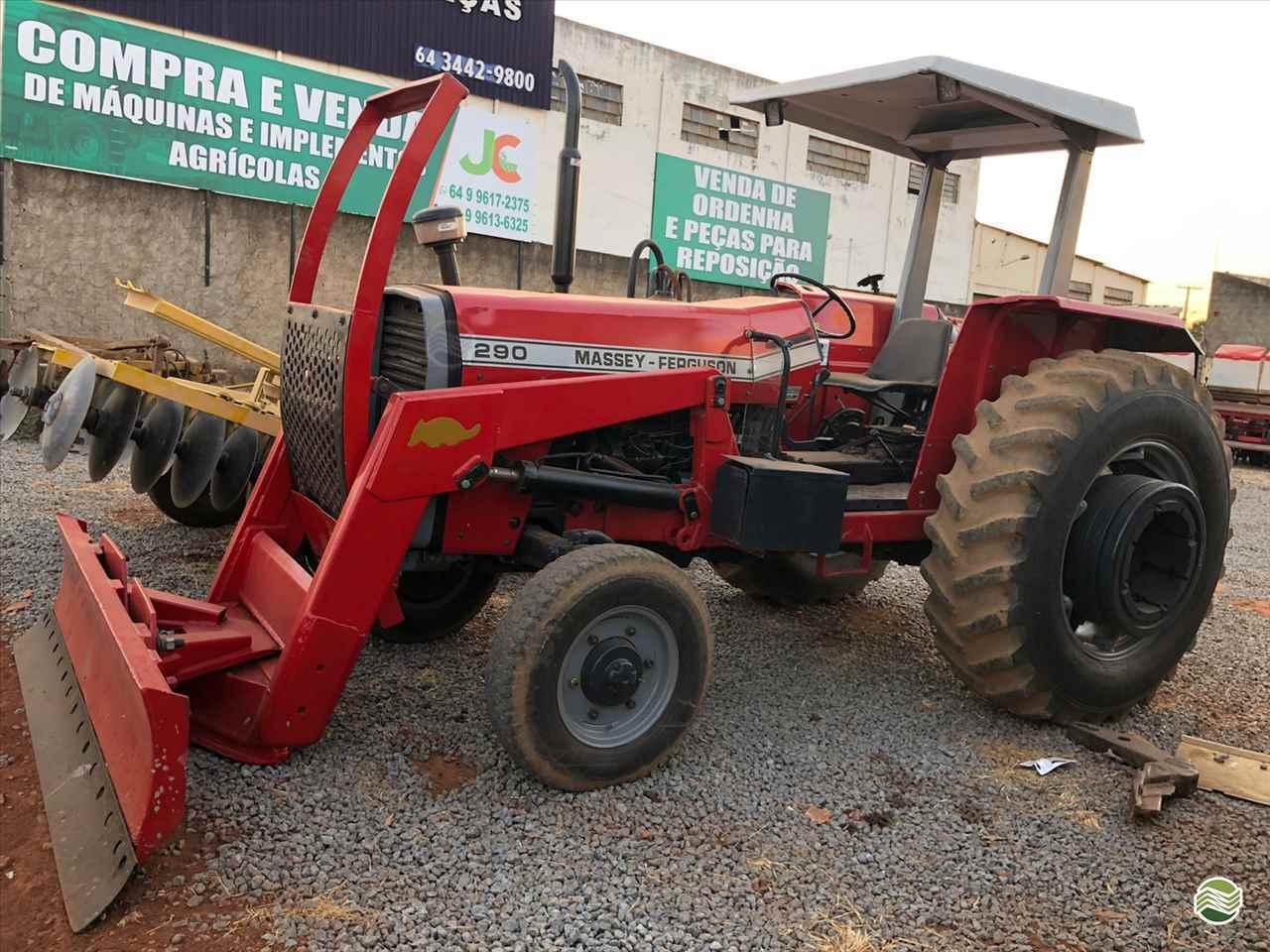TRATOR MASSEY FERGUSON MF 290 Tração 4x2 JC Máquinas Agrícolas CATALAO GOIAS GO