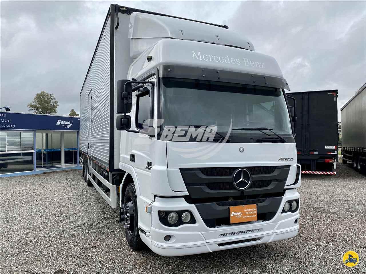 CAMINHAO MERCEDES-BENZ MB 2426 Baú Furgão Truck 6x2 EBEMA Caminhões SAO JOSE DOS PINHAIS PARANÁ PR