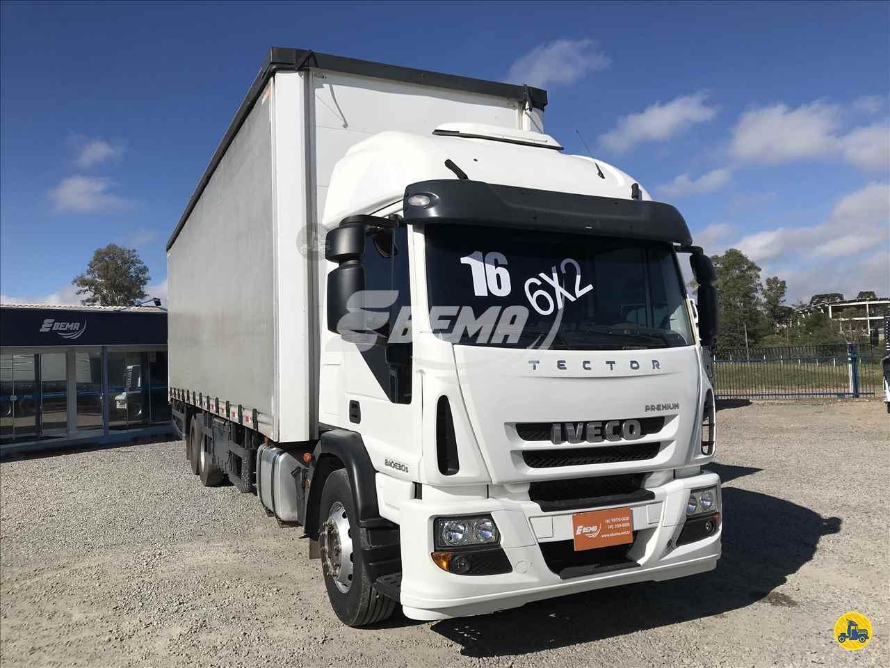 CAMINHAO IVECO TECTOR 240E30 Baú Sider Truck 6x2 EBEMA Caminhões SAO JOSE DOS PINHAIS PARANÁ PR