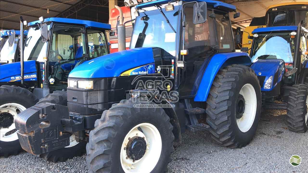 TRATOR NEW HOLLAND NEW TS 6040 Tração 4x4 Agro Texas Máquinas Agrícolas VITORINO PARANÁ PR