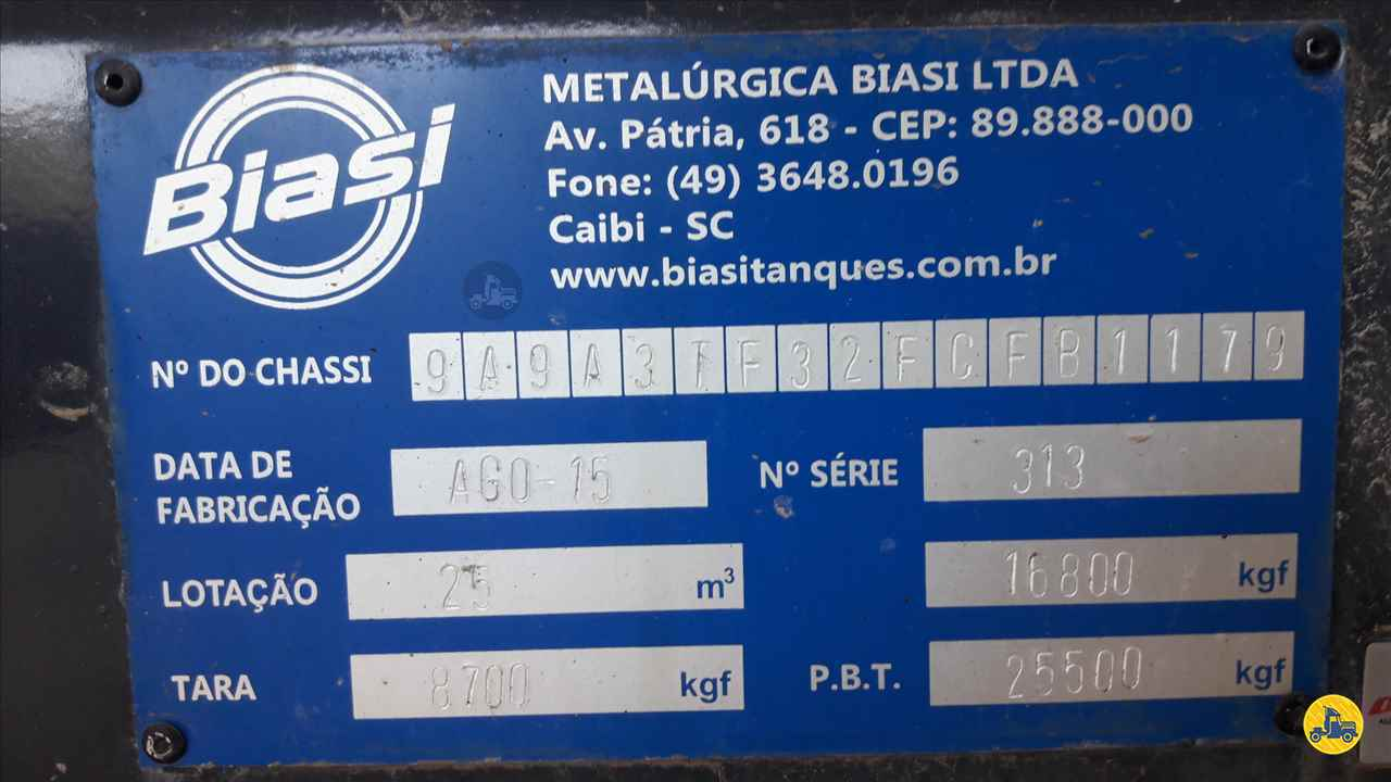 BITREM 9 EIXOS TANQUE ISOTERMICO  2015/2015 Zanon Caminhões e Implementos