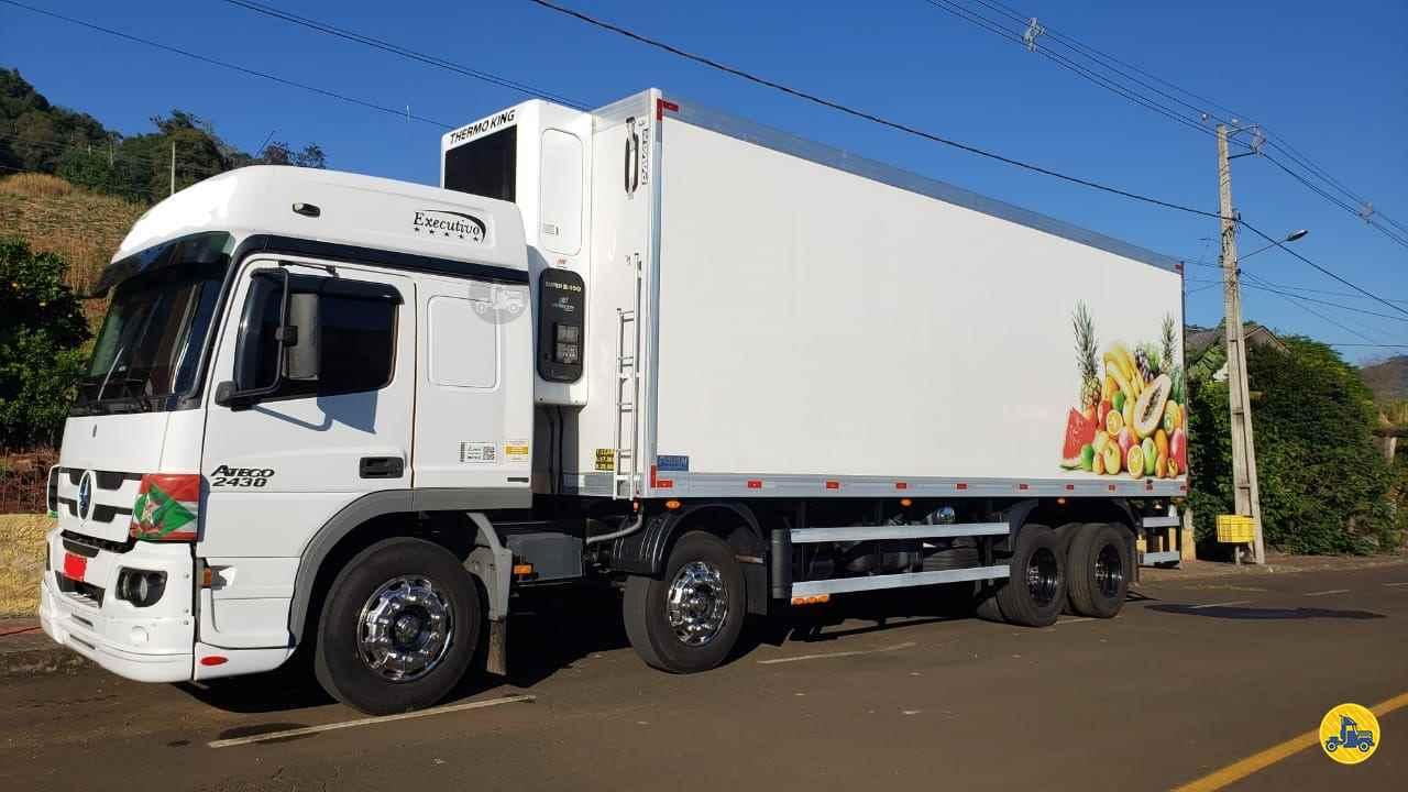 CAMINHAO MERCEDES-BENZ MB 2430 Baú Frigorífico BiTruck 8x2 Zanon Caminhões e Implementos PASSO FUNDO RIO GRANDE DO SUL RS