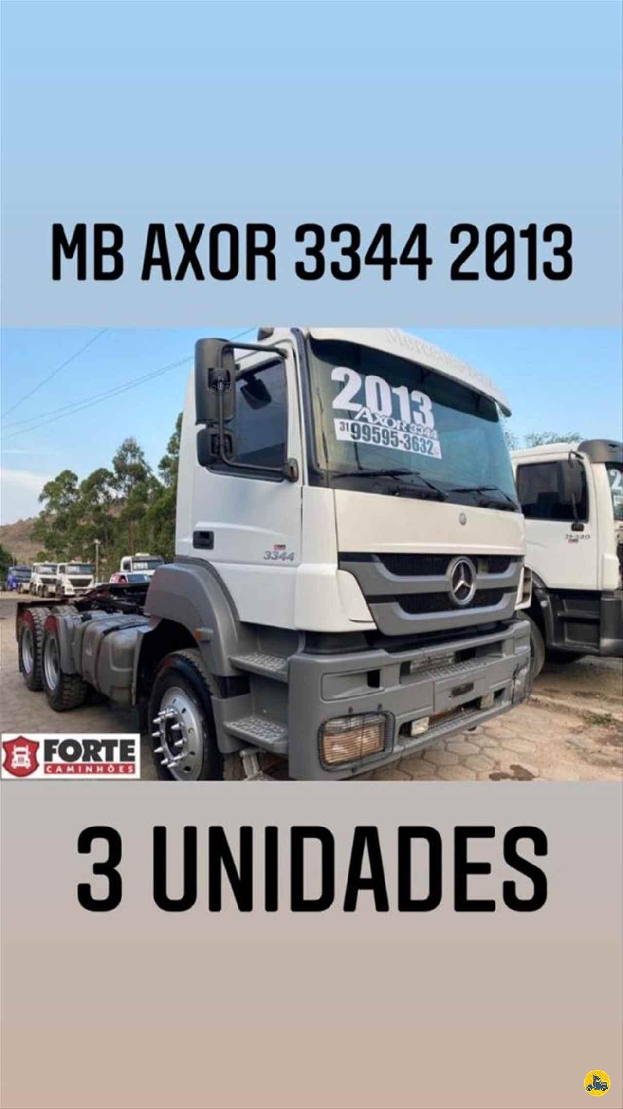 MERCEDES-BENZ MB 3344 221000km 2013/2013 Forte Caminhões MG