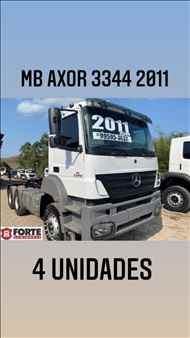 MERCEDES-BENZ MB 3344 336000km 2011/2011 Forte Caminhões MG