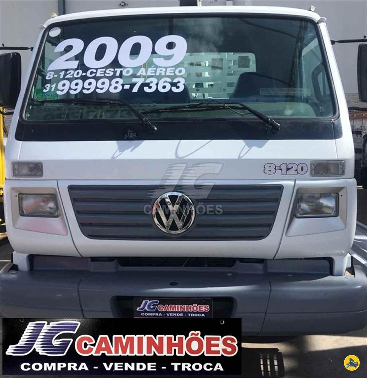 CAMINHAO VOLKSWAGEN VW 8120 Cesto Aereo Isolado 3/4 4x2 JG Caminhões JOAO MONLEVADE MINAS GERAIS MG