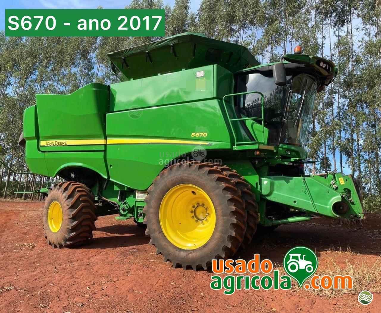 COLHEITADEIRA JOHN DEERE JOHN DEERE S670 Usado Agricola LUCAS DO RIO VERDE MATO GROSSO MT