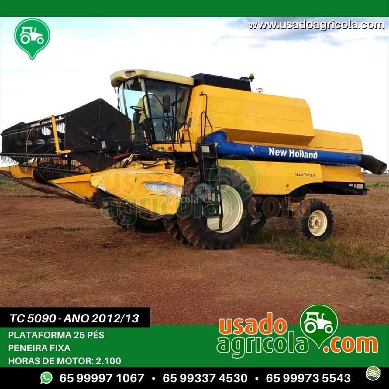 COLHEITADEIRA NEW HOLLAND TC 5090 Usado Agrícola LUCAS DO RIO VERDE MATO GROSSO MT